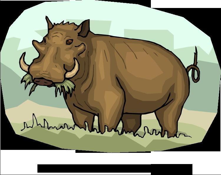 Yak clipart hairy animal. Free warthog