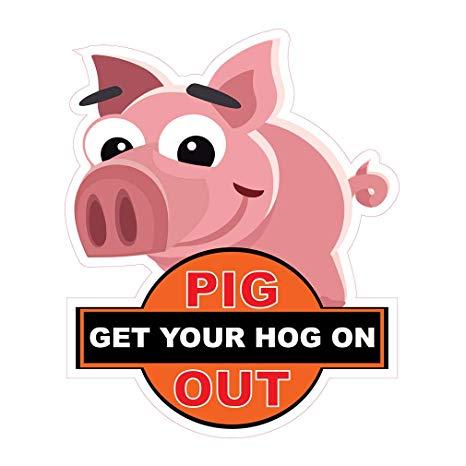 Hog clipart cool pig. Amazon com die cut