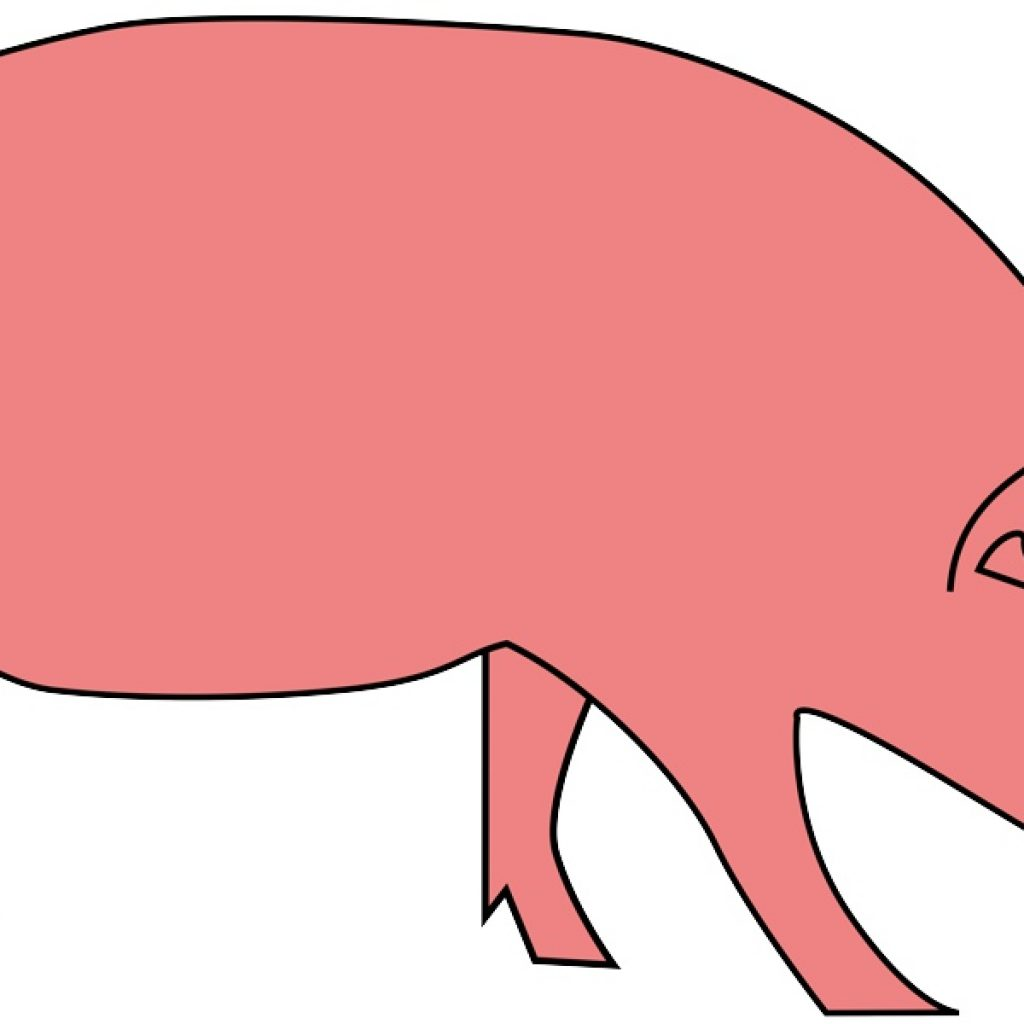 Hog clipart easy. Free pig simple download
