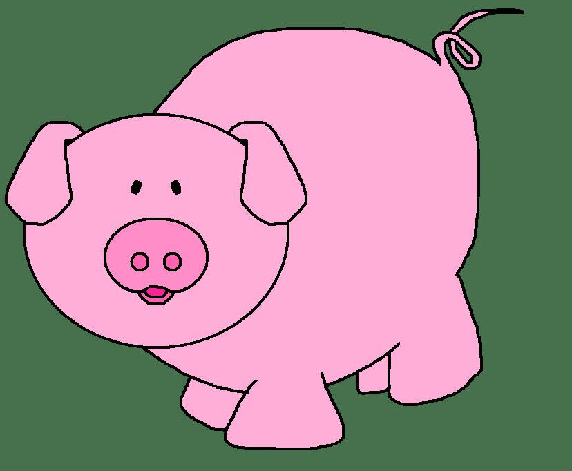 Pig clipart pink. Cute at getdrawings com