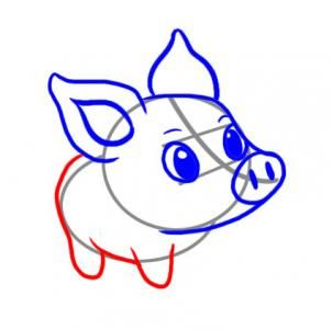 How to draw a. Hog clipart easy