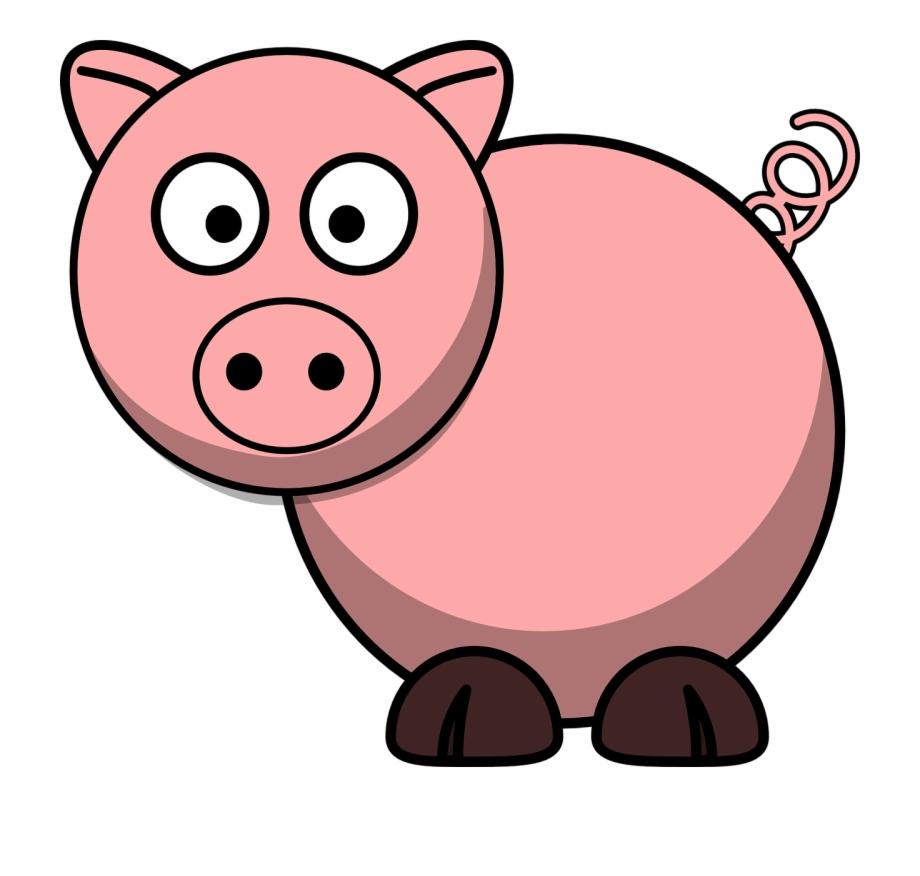 Three pigs cartoon pig. Hog clipart little piggy