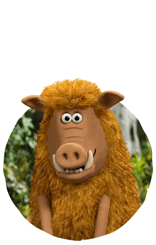 Early man meet the. Hog clipart male pig