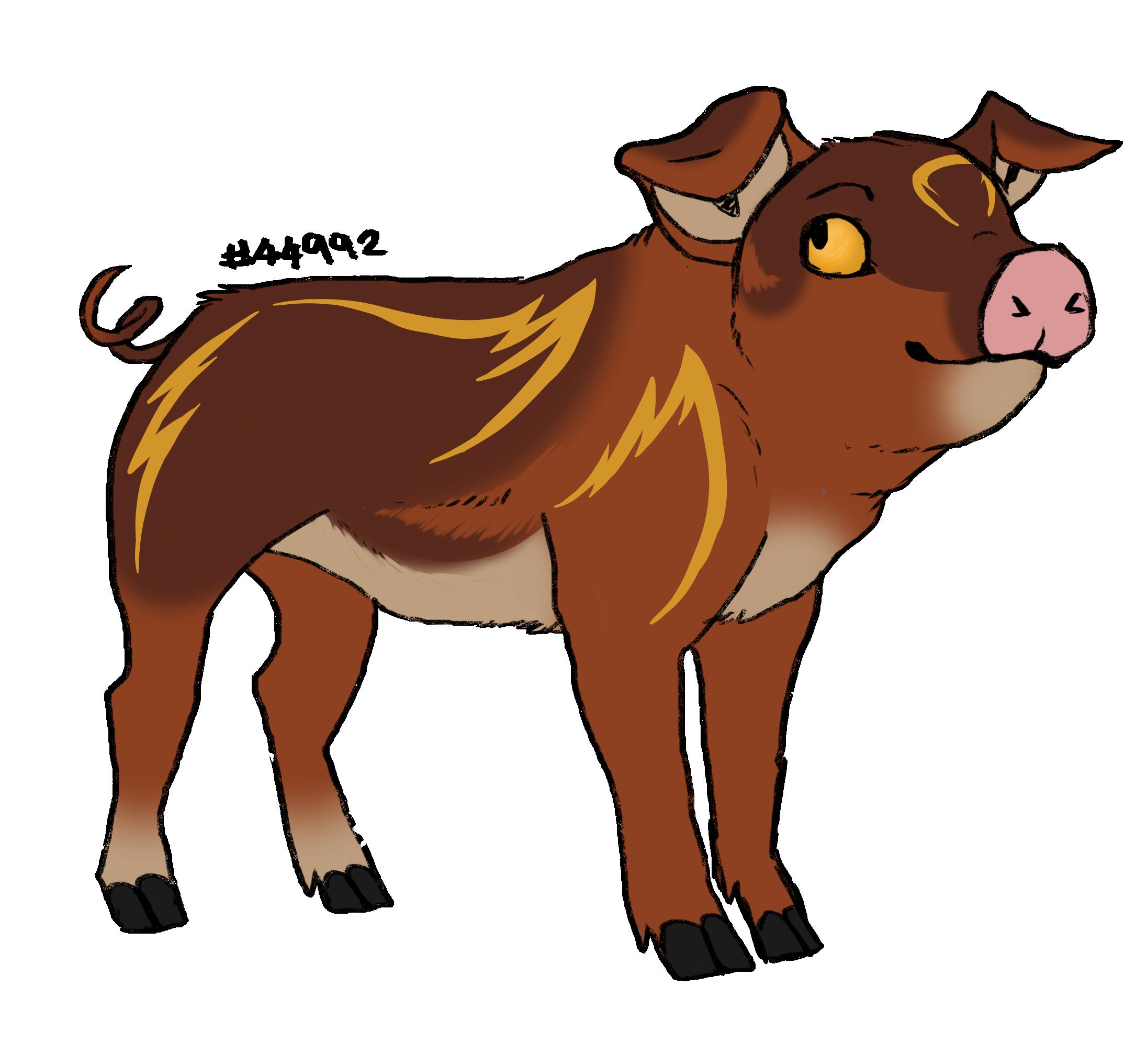 Hog clipart male pig. Piggy adoptables lioden gender
