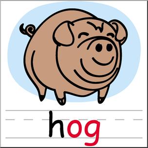 Hog clipart pog. Clip art basic words