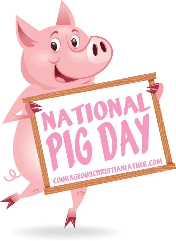 National pig day courageous. Hog clipart porcine