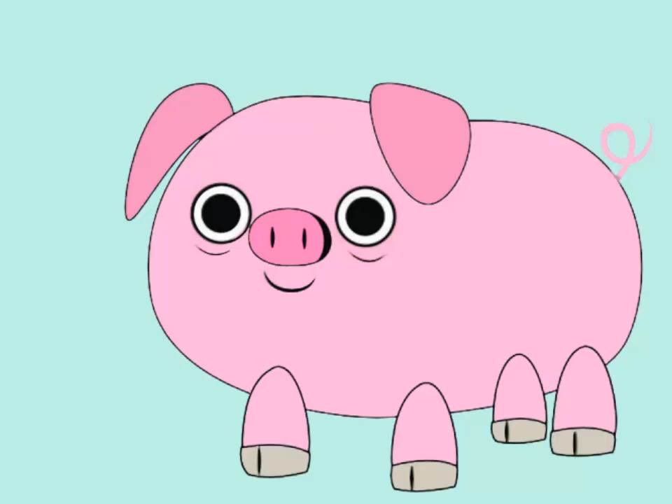 How to draw a. Pigs clipart body