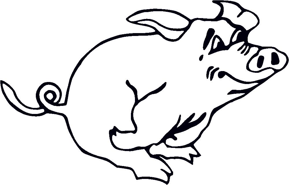 Hog clipart swine. Free pig line art