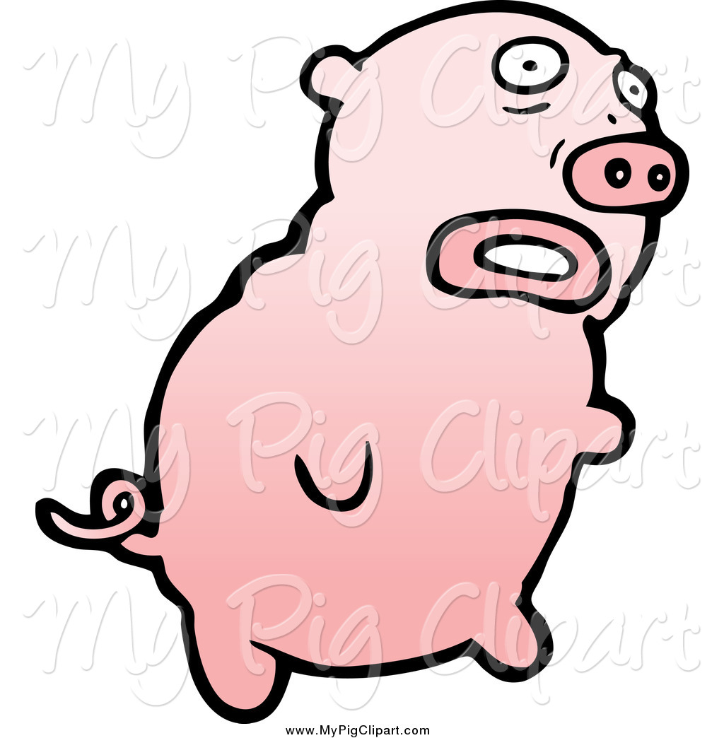 Of a scared pig. Hog clipart swine