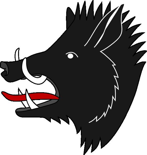 Clip art black and. Head clipart warthog