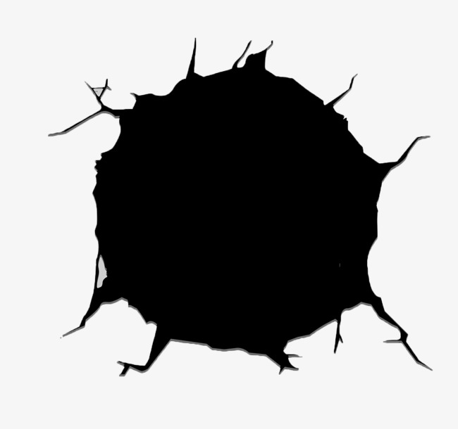 Hole clipart. Wall crack holes png