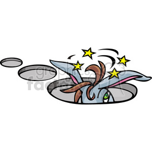 Hole clipart. Royalty free donkey stuck