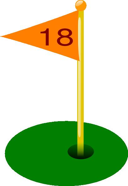 Hole clipart 18th. Golf flag th clip