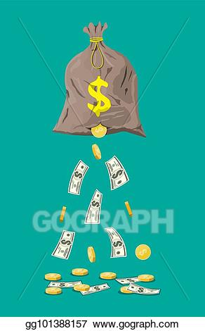 Hole clipart bag. Vector money with illustration