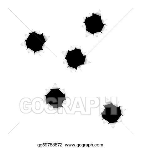 Vector art bullet holes. Hole clipart draw
