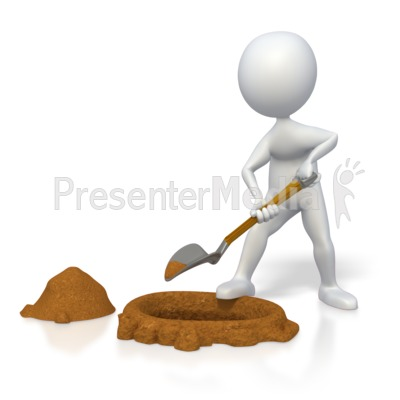 Stick figure digging a. Hole clipart dug hole