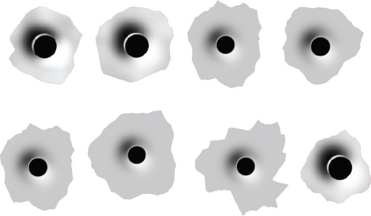 Hole clipart glass transparent. Set of bullet holes