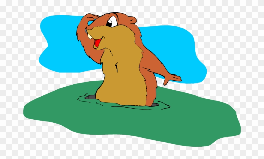 Hole clipart ground hog. Cute groundhog png download