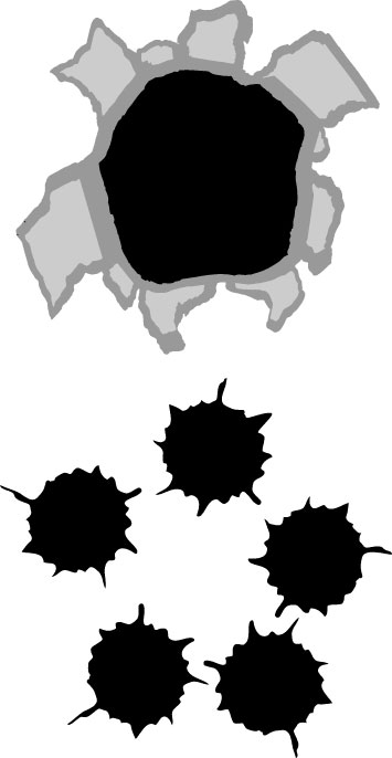Hole clipart gun. Free gunshot cliparts download