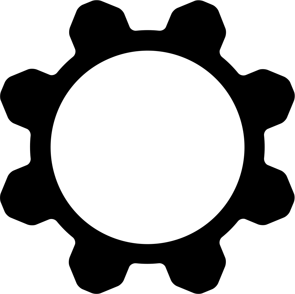 Cogwheel svg png icon. Hole clipart psd