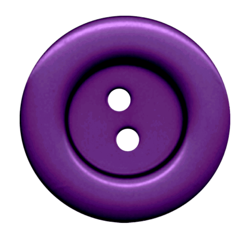 Hole clipart transparent background. Purple cloth button with