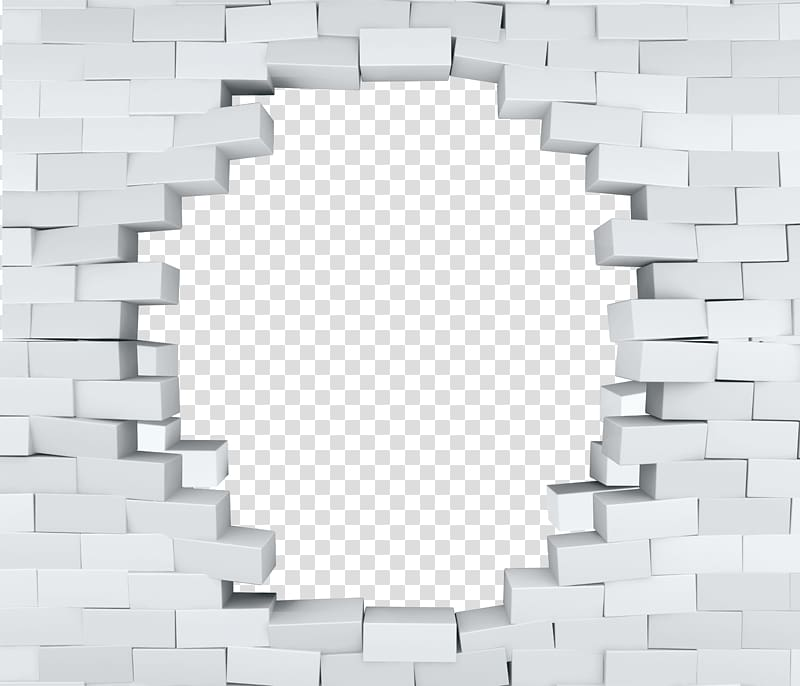 Brick poster d white. Hole clipart wall png