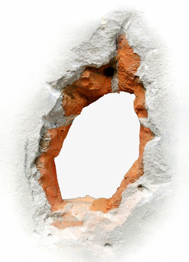 Hole clipart wall png. Effects broken