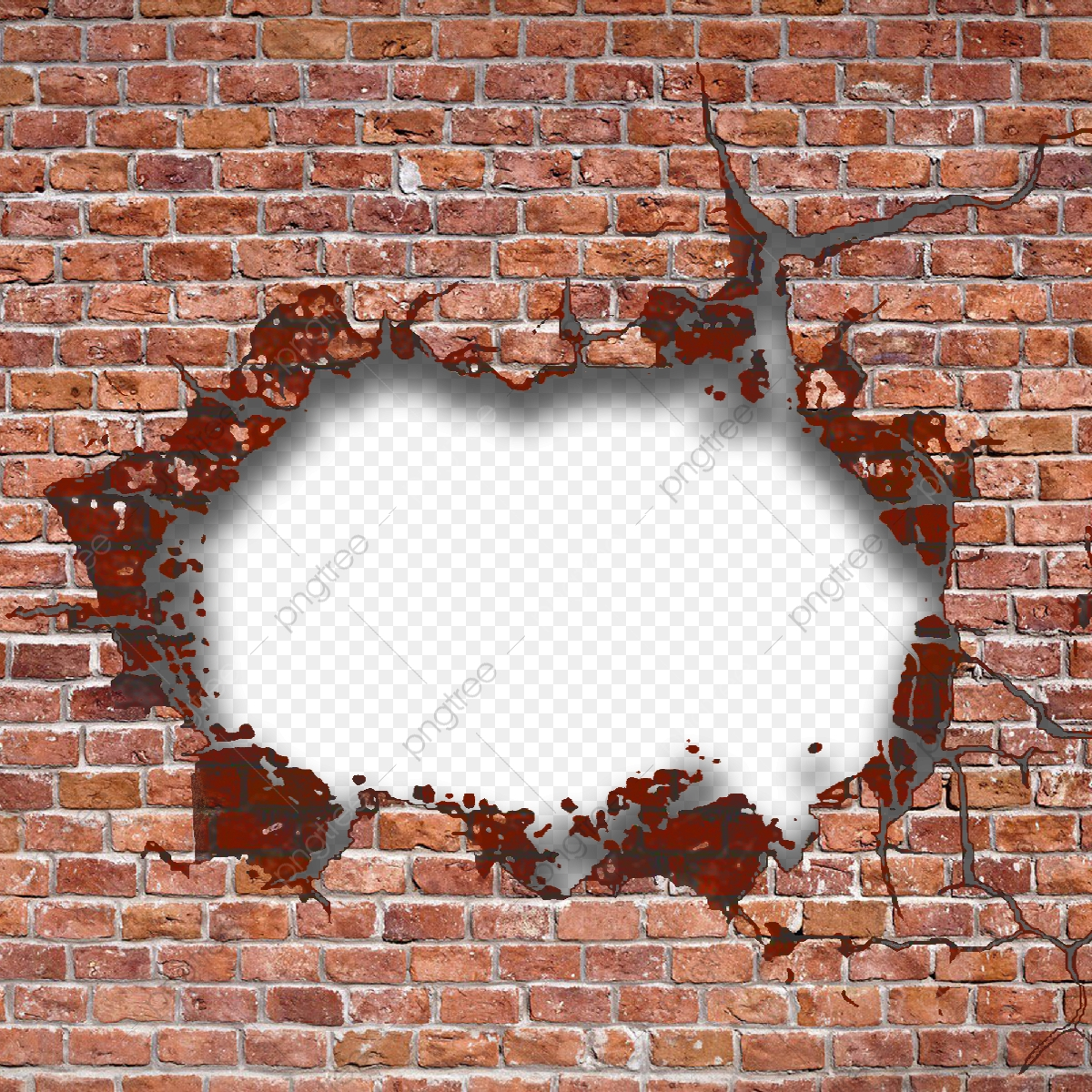 Hole clipart wall png. In brick holes transparent