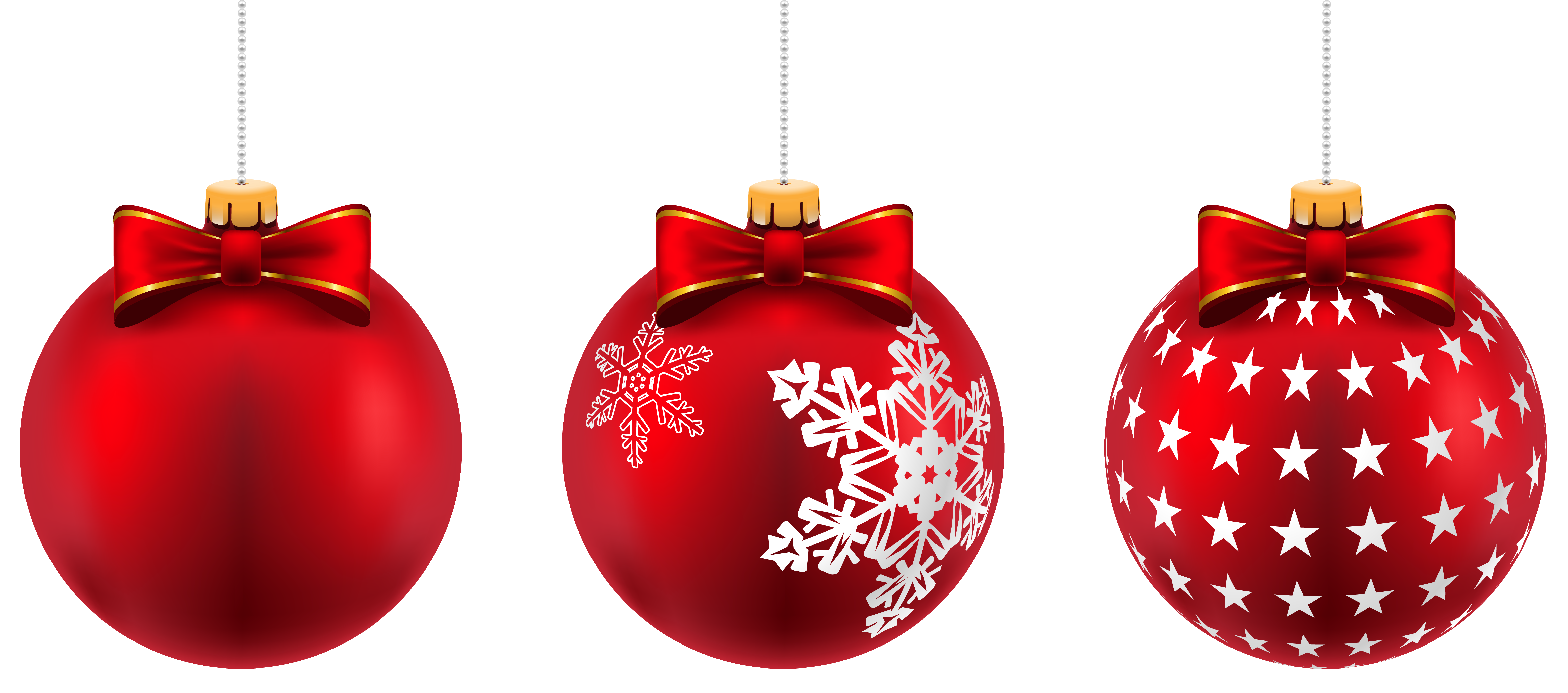 Beautiful red christmas png. Holiday clipart balls