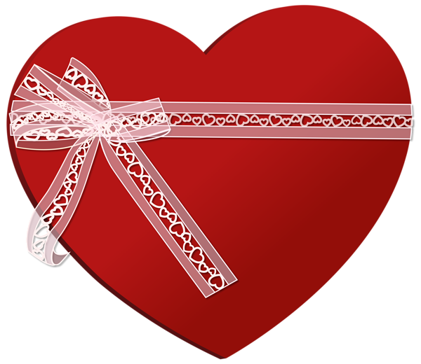Heart with ribbon png. Poinsettias clipart candlestick
