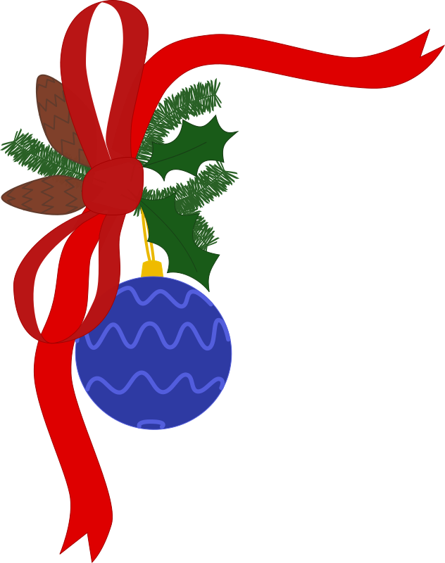 Xmas decorations free clip. Holiday clipart christmas