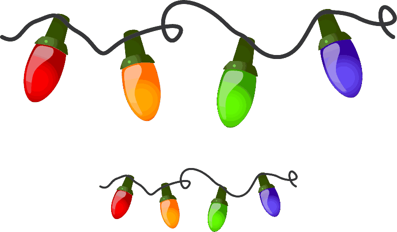 Holiday free christmas lights. Holidays clipart clip art