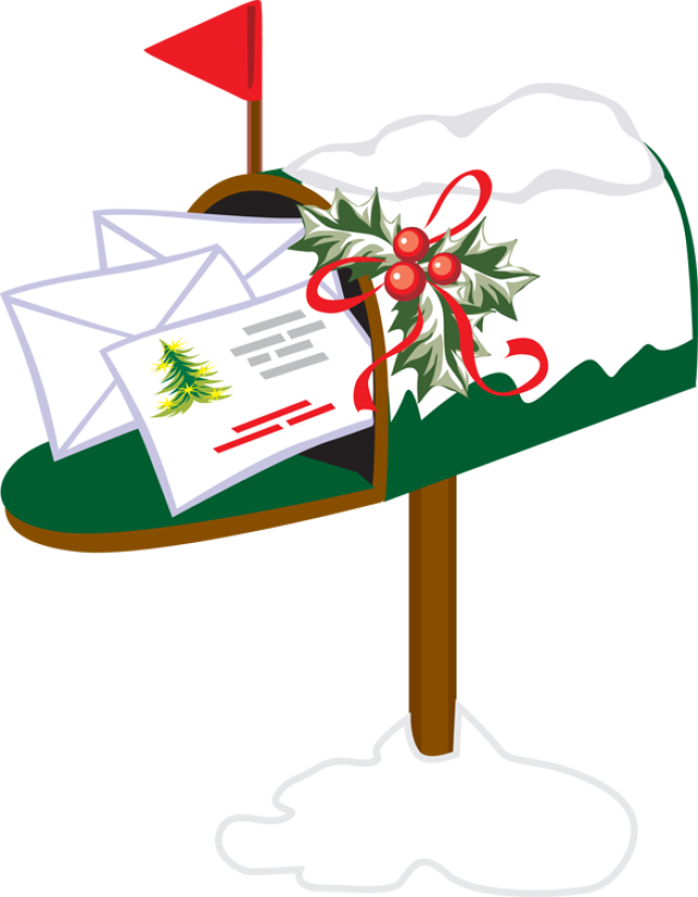 Holiday for emails free. Mailbox clipart christmas