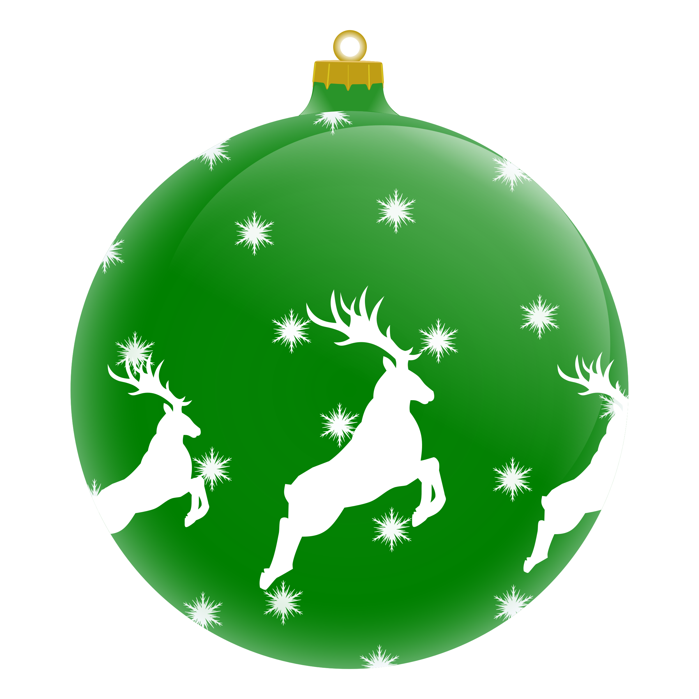 Holiday clipart embellishment. Palla con renna by