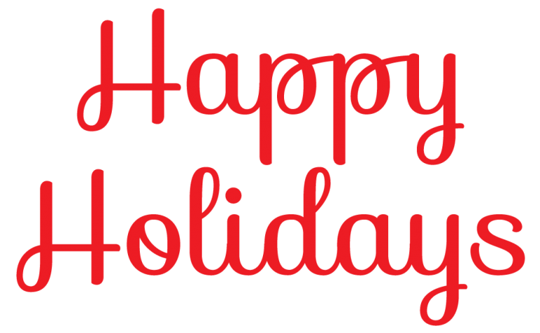 Happy holidays clip art. Holiday clipart end