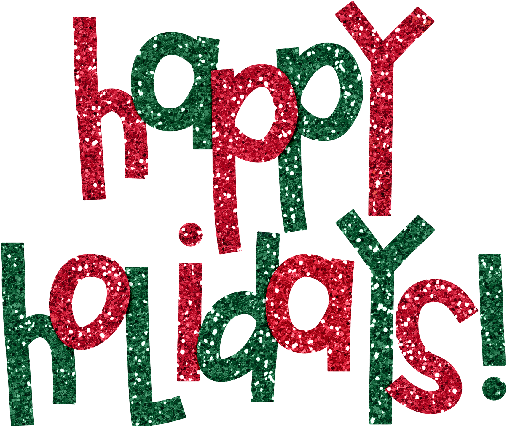 Holiday clipart glitter. Happy free download best