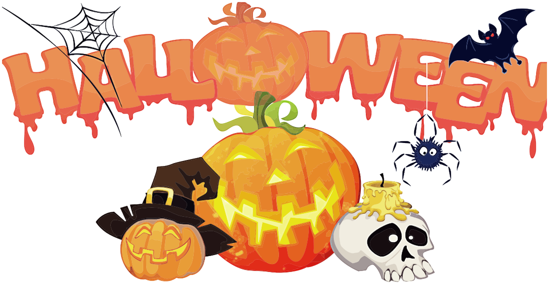 Holiday clipart halloween. Decorations spooky words holidayhalloween