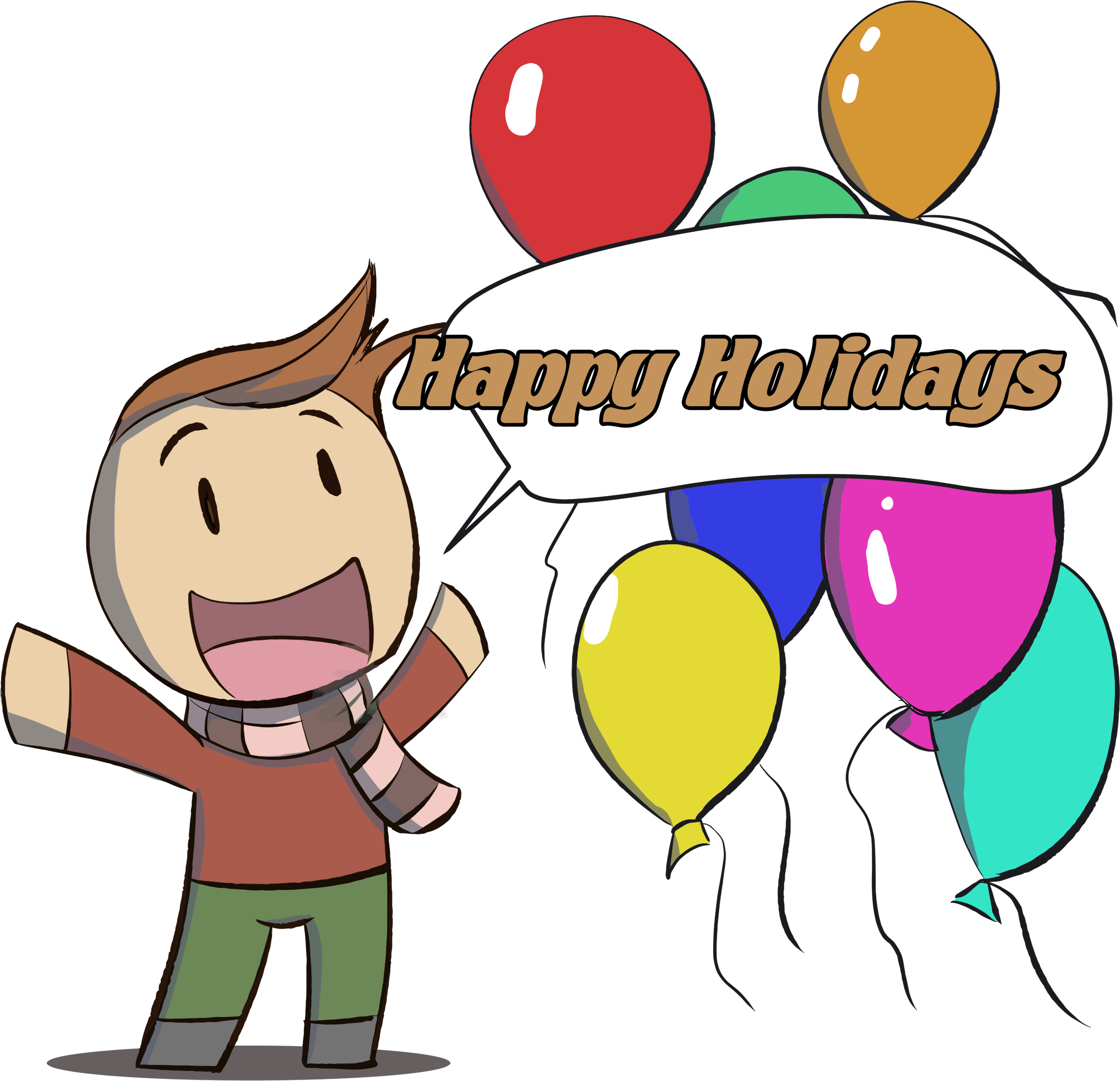 Holidays clipart thing. Happy man big image