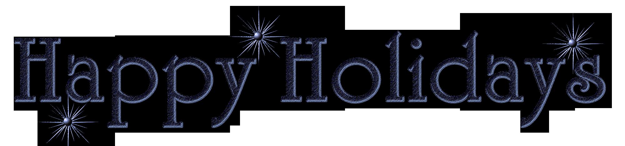 Holiday clipart holiday season. Happy holidays png by