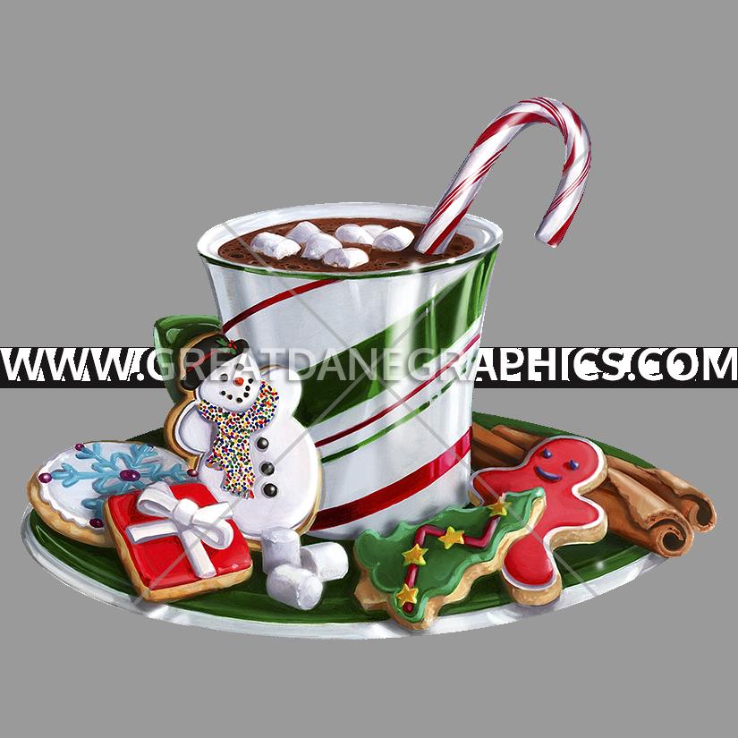 Holidays clipart hot chocolate. Christmas production ready artwork