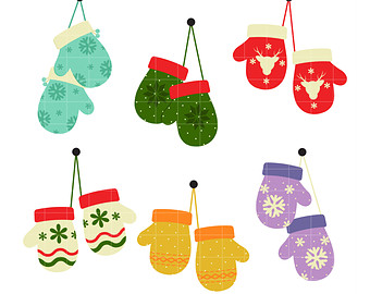 Mitten pencil and in. Mittens clipart holiday