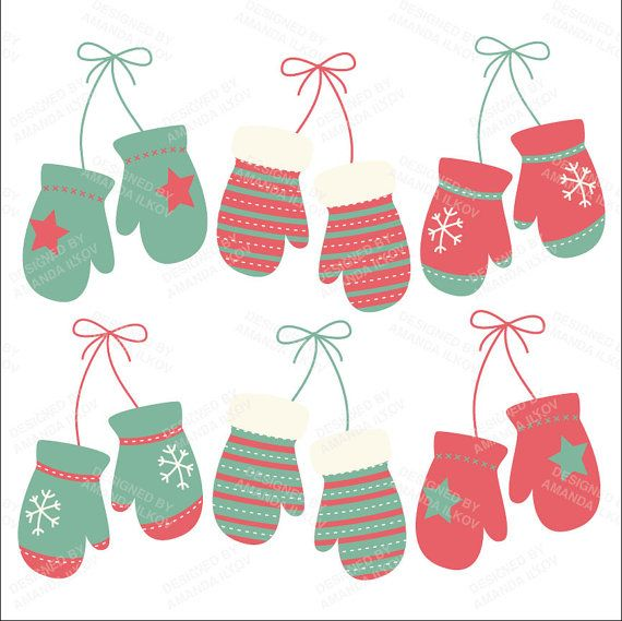 Mittens clipart holiday. Professional modern christmas by