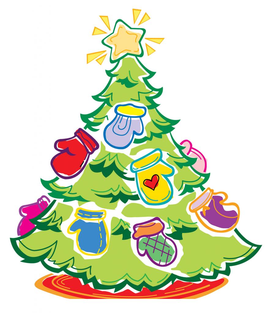 Wkhm tree am . Holidays clipart mitten