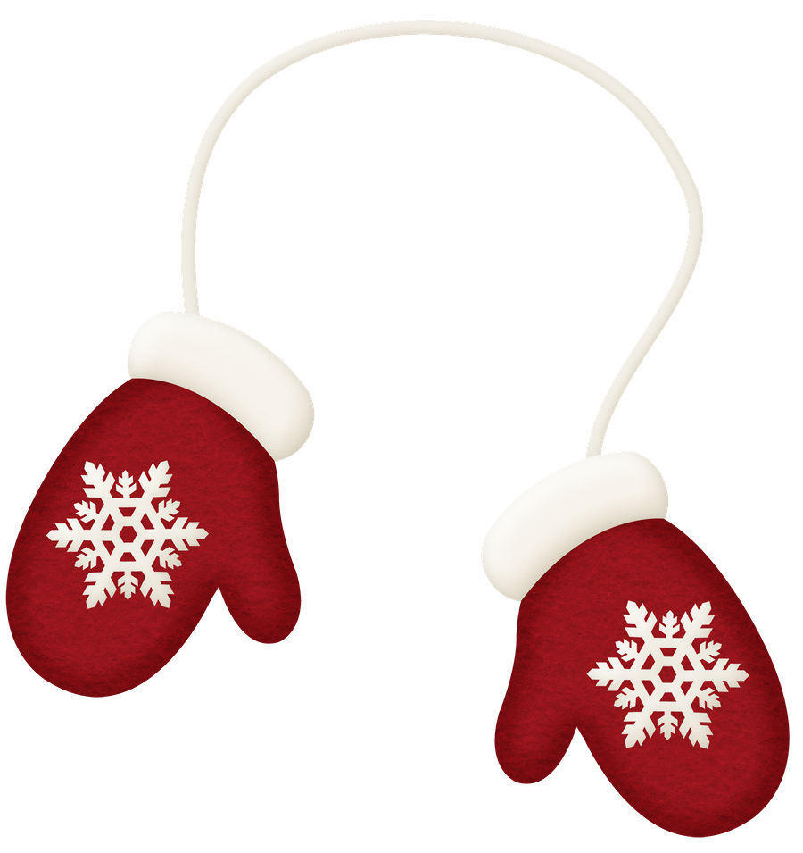 Winter red clip art. Mittens clipart printable