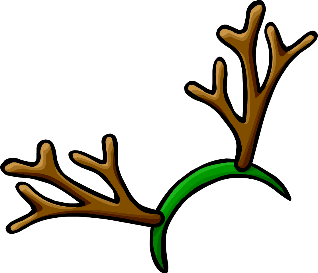 Holiday clipart photo booth. Reindeer antler printable for
