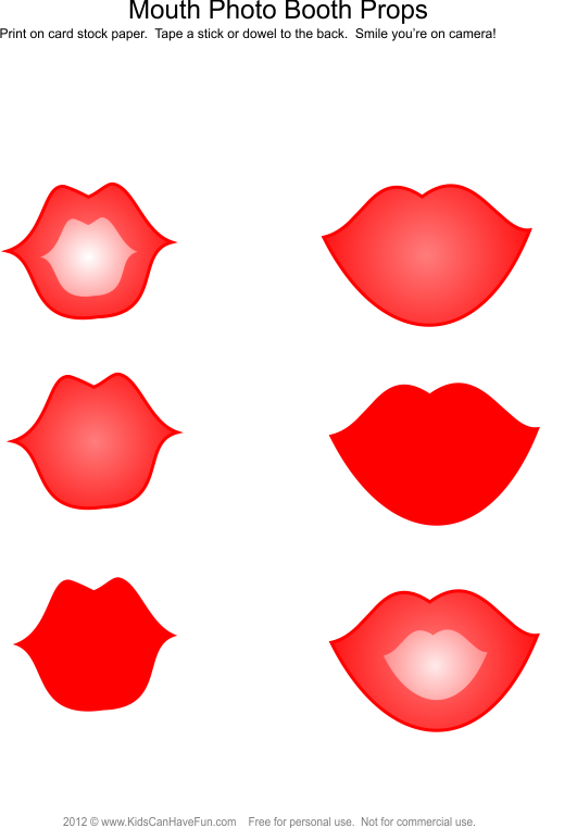 Holiday clipart photo booth. Lips props mustache hats