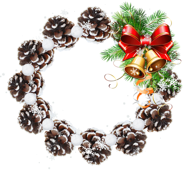 K round pine cone. Holidays clipart pinecone