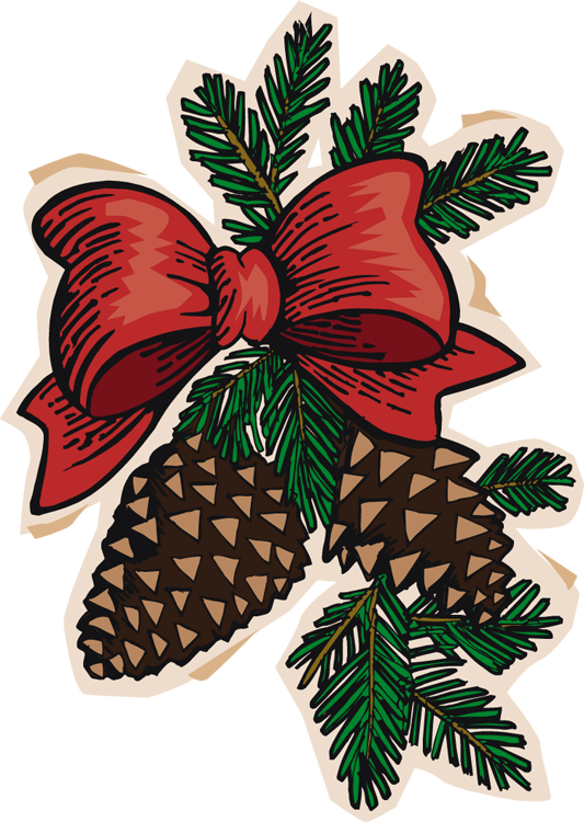 Holidays clipart pinecone. Clip art pine cone