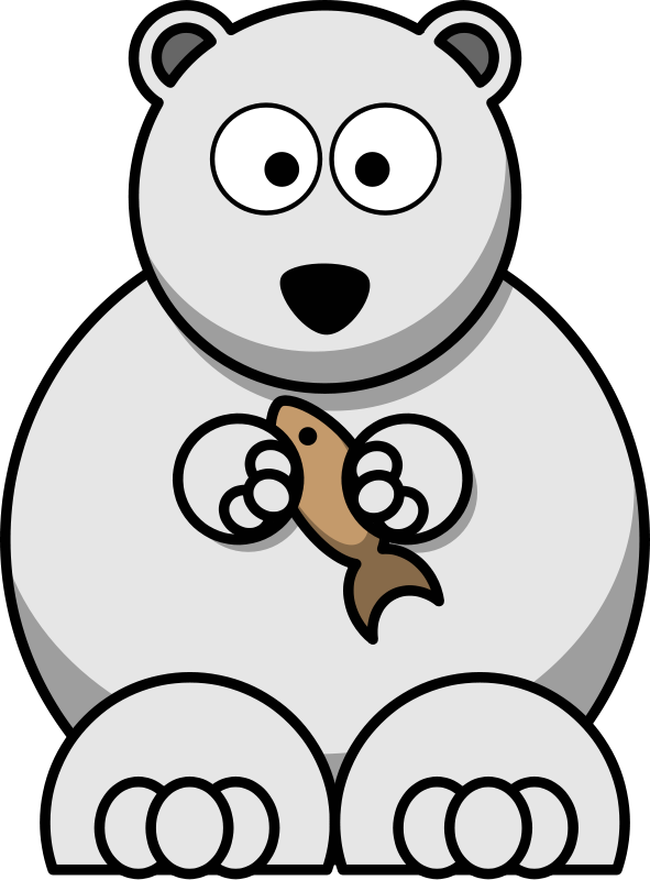 Free cartoon clip art. Holiday clipart polar bear