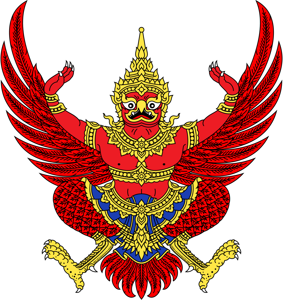 Person clipart culture. National symbols of thailand